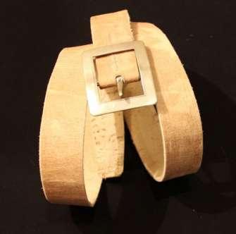 Lonja/ cinturon  con hebilla de plata pura
