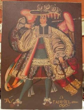 Pintura de antiguo  Ángel. Salamiel