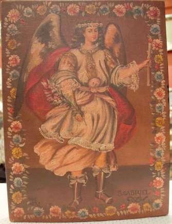 Pintura de angel. San Gabriel
