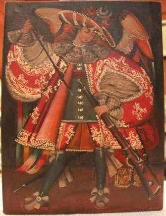 Painting of Angel Arcabucero